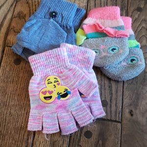 Bundle of 3 girls gloves